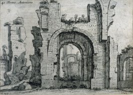 Terme Antoniana (Antonine Baths), pl. 40 from the series Alcune vedute et prospettive di luoghi dishabitati di Roma (Some Views and Perspectives of the Uninhabited Places of Rome)