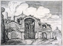 Listesse (The Same[i.e. Baths of Diocletian]), pl. 9 from the series Alcune vedute et prospettive di luoghi dishabitati di Roma (Some Views and Perspectives of the Uninhabited Places of Rome)