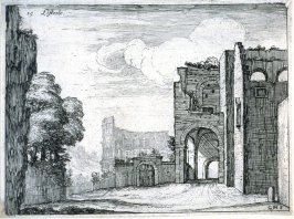 Listesso (The Same[(Near the Navicella Fountain]), pl. 15 from the series Alcune vedute et prospettive di luoghi dishabitati di Roma (Some Views and Perspectives of the Uninhabited Places of Rome)