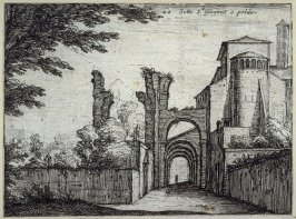 Sotto St. Gioanne epoldo (Below SS. Giovanni e Paolo), pl. 22 from the series Alcune vedute et prospettive di luoghi dishabitati di Roma (Some Views and Perspectives of the Uninhabited Places of Rome)