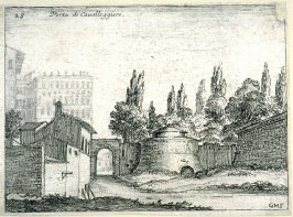 Porta di Cavalleggieri (Gate of the Light Cavalry), pl. 28 from the series Alcune vedute et prospettive di luoghi dishabitati di Roma (Some Views and Perspectives of the Uninhabited Places of Rome)