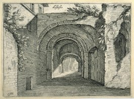 Listesso (The Same [i.e. Below the Palazzo Maggiore]), pl. 37 from the series Alcune vedute et prospettive di luoghi dishabitati di Roma (Some Views and Perspectives of the Uninhabited Places of Rome)