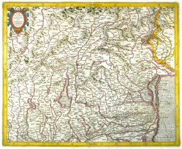 Map of South Tyrol and the Po Valley