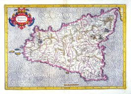 Map of the Kingdom of Sicily