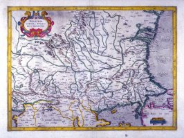 Map of Walahcia, Serbia, Bulgaria, And Romania