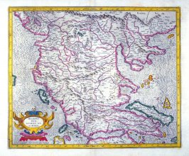 Map of Northern Greece