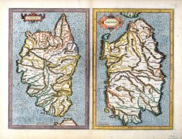Maps of Corsica and Sardinia