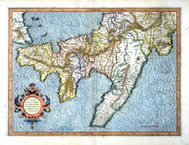 Map of Apulia, Di Barri, Di Otranto, and Calabria (Lower Italy)