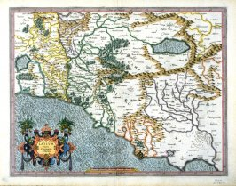 Map of Latium and The Campagna Di Roma