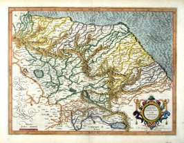 Map of Spoleto and Environs (Italy)