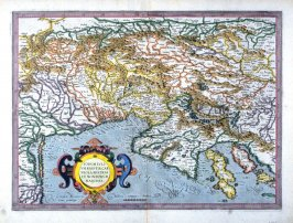 Map of the Northern Adriatic including Venice