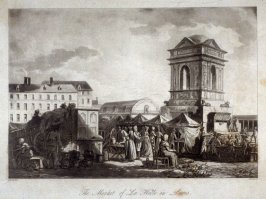 The Market of La Halle in Paris