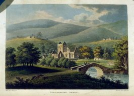 Pluscardine Abbey, plate opposite page 121 in the book Remarks on Local Scenery and Manners in Scotland During the Years 1799 and 1800 by John Stoddart (London: William Miller, 1801), vol. 2( of 2)