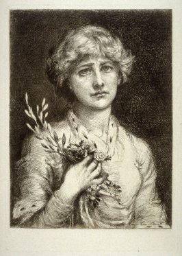 "Miss Ellen Terry as ""Ophelia"", plate 10 in the book, The Etcher (London: Williams and Norgate, 1879), vol. 1"