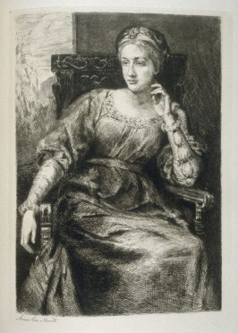 "Mrs. Kendal, as the ""Lady Giovanna"", plate 17 in the book, The Etcher (London: Sampson Low…, 1880), vol. 2 [bound in same volume as vol. 1, 1879]"