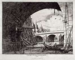 L'Arche du Pont Notre-Dame,Paris (An arch of the Notre-Dame bridge, Paris)