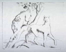 One of 12 Etchings of Animals: [Puma]