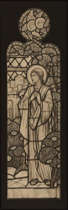 Virgin Mary (design for a stained glass window at St. Mary's Church, Moseley, Birmingham)