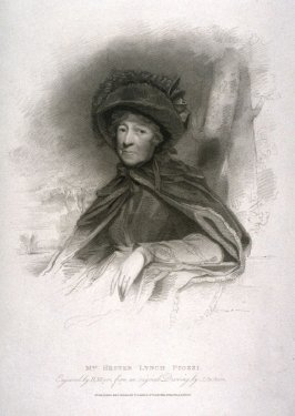Portrait of Mrs. Hester Lynch Piozzi