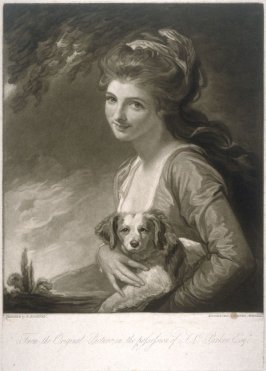 Lady Hamilton with Her Dog