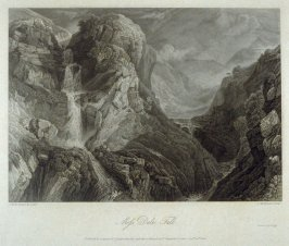 Moss Dale Fall, from Whitaker's 'History of Richmondshire' (London, 1819-1823)