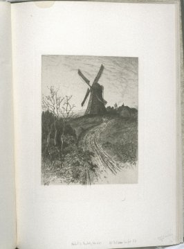 Old Mill, near Newport, R. I., plate at p. 53 in the book, Representative Etchings by Artists of To-day in America (New York: Frederick A. Stokes, 1887)