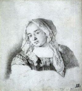 Peasant Girl Wearing a Head Shawl
