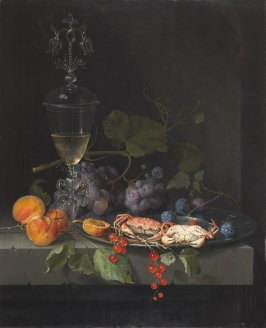 Still Life with Crabs on a Pewter Plate