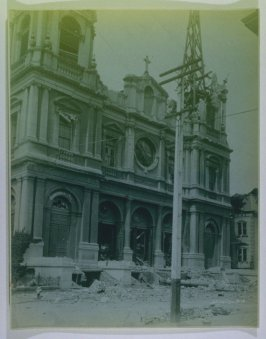 St. Dominic's Church facade (San Francisco earthquake series no. 18)