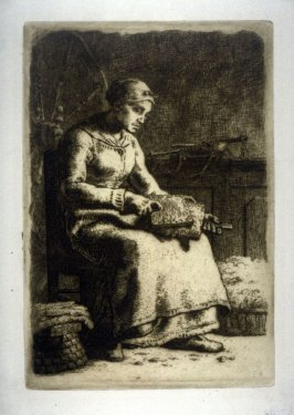 La Cardeuse (The Wool Carder)