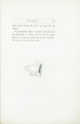 """Croquis de chat de Mind,"" end device pg. 205, in the book Les Chats (Cats) by Champfleury (Paris: J. Rothschild, 1870)."