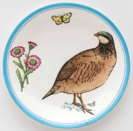 Dinner plate from the 'Naturalist' service