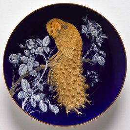 Display Plate with peacock