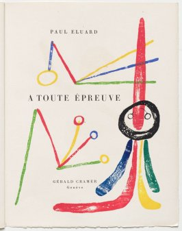 A Toute Épreuve (Proof Against All) (Geneva: Gérald Cramer, 1958)