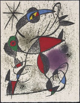 """Faillie du calcaire"" by Joán Miró, pg. 137, in the book Souvenirs et portraits d'artistes (Reminiscences and Portraits of Artists) by Fernand Mourlot (Paris: Alain c. Mazo, 1972 and in New York: Léon Amiel, 1972)."