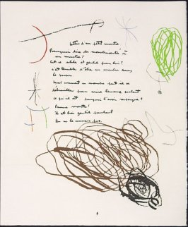 Untitled, pg. 9, in the book Adonides by Jacques Prévert (Paris: Maeght, 1975)