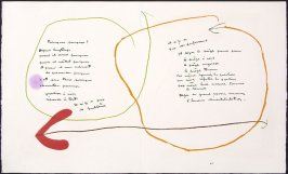 Untitled, pgs. 10 and 11, in the book Adonides by Jacques Prévert (Paris: Maeght, 1975)