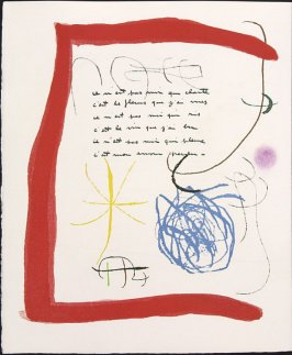 Untitled, pg. 12, in the book Adonides by Jacques Prévert (Paris: Maeght, 1975)