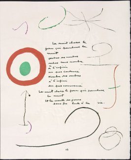 Untitled, pg. 13, in the book Adonides by Jacques Prévert (Paris: Maeght, 1975)