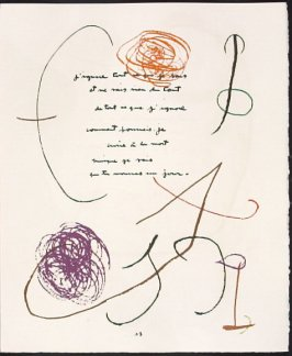 Untitled, pg. 17, in the book Adonides by Jacques Prévert (Paris: Maeght, 1975)