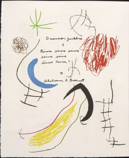 Untitled, pg. 20, in the book Adonides by Jacques Prévert (Paris: Maeght, 1975)