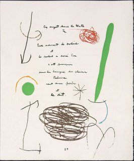 Untitled, pg. 29, in the book Adonides by Jacques Prévert (Paris: Maeght, 1975)