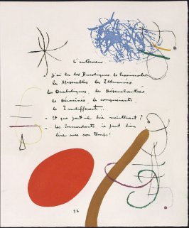Untitled, pg. 37, in the book Adonides by Jacques Prévert (Paris: Maeght, 1975)