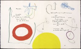 Untitled, pgs. 54 and 55, in the book Adonides by Jacques Prévert (Paris: Maeght, 1975)