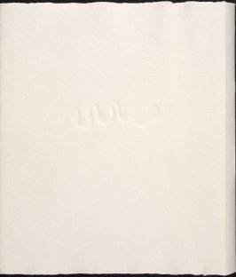 Untitled, back cover, in the book Adonides by Jacques Prévert (Paris: Maeght, 1975)