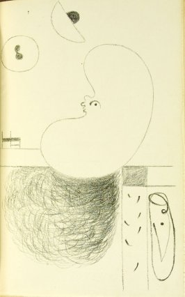 Untitled, between pgs. 56 and 57, in the book L'Arbre des voyageurs by Tristan Tzara (Paris: Éditions de la Montagne, 1930)