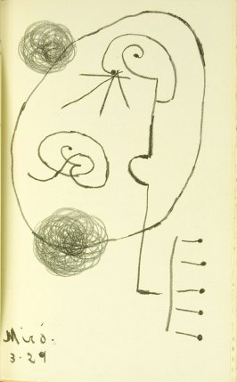 Untitled, between pgs. 64 and 65, in the book L'Arbre des voyageurs by Tristan Tzara (Paris: Éditions de la Montagne, 1930)
