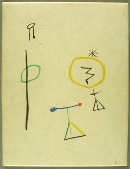Protective board cover (front, back and spine), in the book Parler seul by Tristan Tzara (Paris: Adrien Maeght, 1948-50)