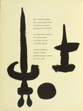 Untitled, pg. 24, in the book Parler seul by Tristan Tzara (Paris: Adrien Maeght, 1948-50)