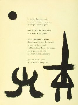 Untitled, pg. 28, in the book Parler seul by Tristan Tzara (Paris: Adrien Maeght, 1948-50)